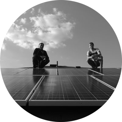 Hoffman Brothers at a solar panel installation in Austin Texas