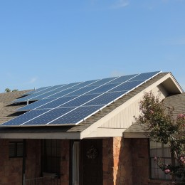 solar roof with silver frame