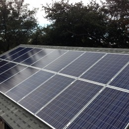 Evening shade can be minimized with micro inverters