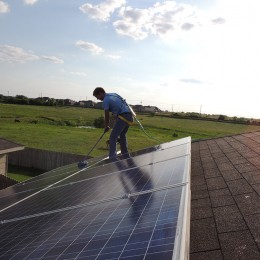 solar roof cleaning