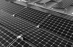 solar on a flat roof in Downtown Austin TX
