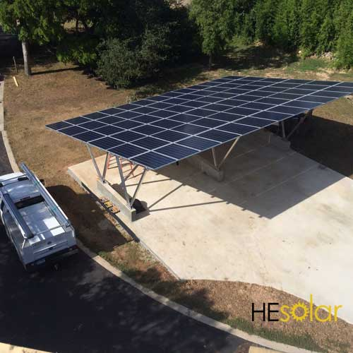 Off Grid Solar Carport : Solar carports and custom structures in austin