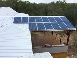 Solar Panels installed on a Home in New Braunfels