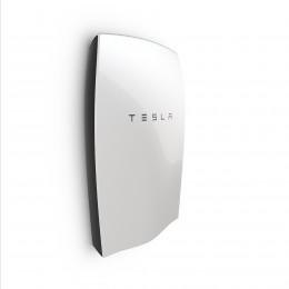 Side view of the new Tesla Powerwall.