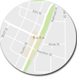 Map of Buda TX and Kyle TX