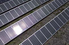 commercial solar mounted on the ground in Buda TX