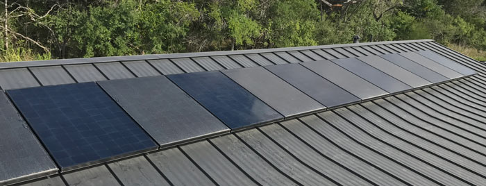 picture of solar panels from the experiment