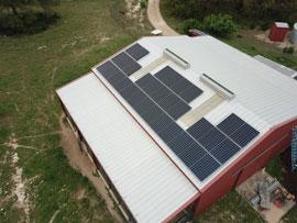 Panasonic Solar Panels on a Barn in Dripping Springs TX