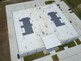 Commercial solar installation in Buda TX